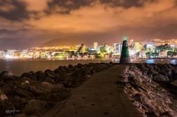 benalmadena y faro puerto marina