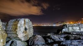 Costa nocturna de Málaga