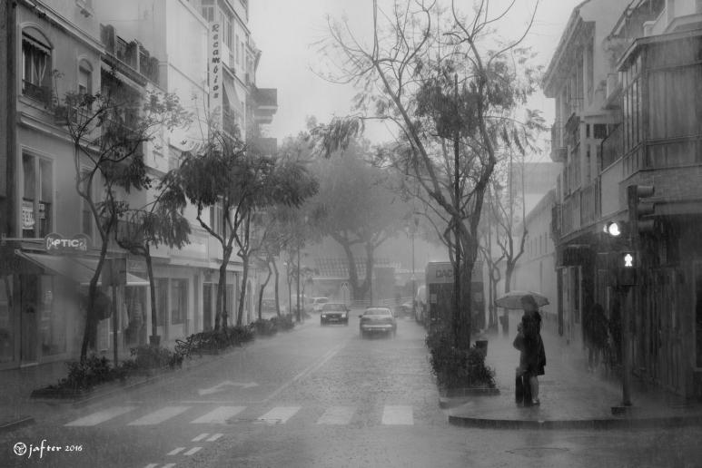 Lloviendo en Fuengirola