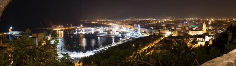 Panoramica malaga noche