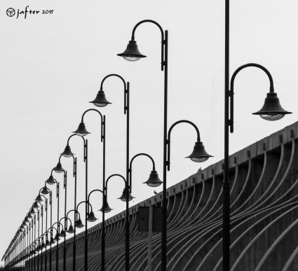 Perspectiva farola puerto