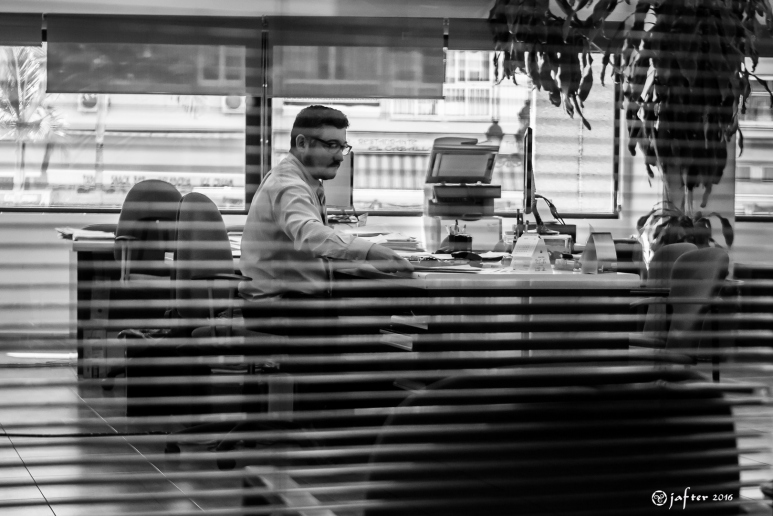 Rayado en la oficina